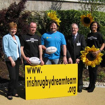 Shane Byrne launched the Sunshine Home's Irish Rugby Dream Team search