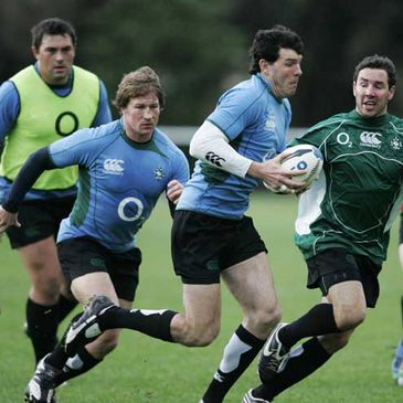 Shane Horgan on the move during a training session in Wellington
