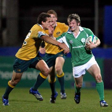 Ireland's Jamie Smith on the attack