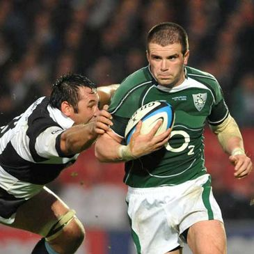 Shane Jennings in action for Ireland against the Barbarians