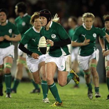 Joy Neville in action for the Ireland Women's team