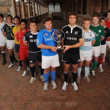 Ireland's Niall Annett with the rest of the JWC captains