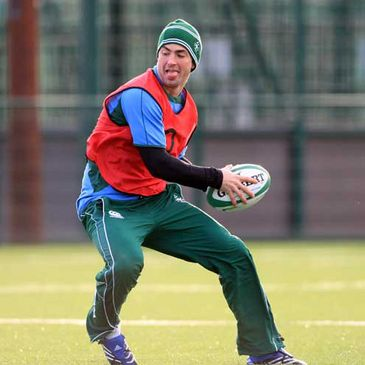 Rob Kearney training with the Irish squad at Belfield