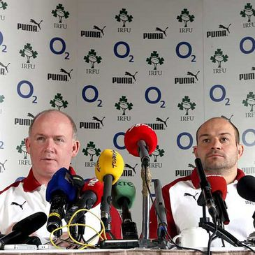 Ireland's Declan Kidney and Rory Best