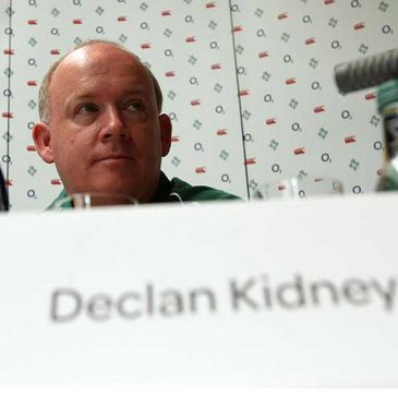 Declan Kidney is pictured at Thursday's press conference in Cork