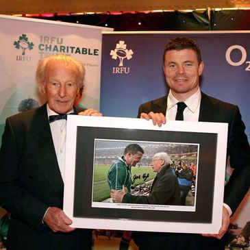 Irish rugby icons Jack Kyle and Brian O'Driscoll