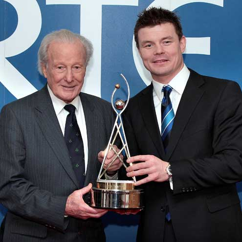 Hall of Fame award winner Jack Kyle and Brian O'Driscoll
