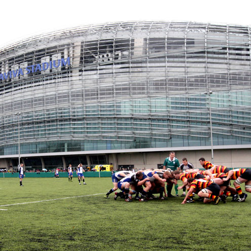 Lansdowne faced Cork Constitution on the back pitch at the Aviva Stadium