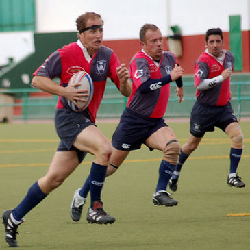 Some of the Lanzarote players in action