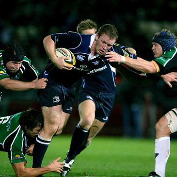Stephen Keogh on the attack for Leinster against Connacht