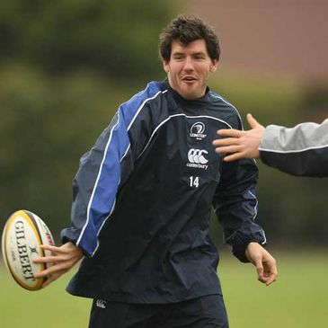 Shane Horgan training with the Leinster squad