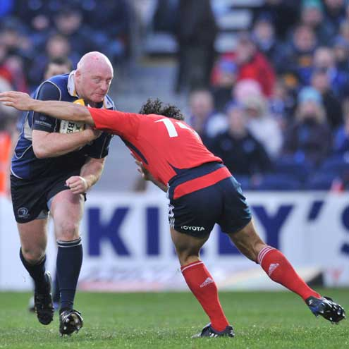 Bernard Jackman in action for Leinster against Munster