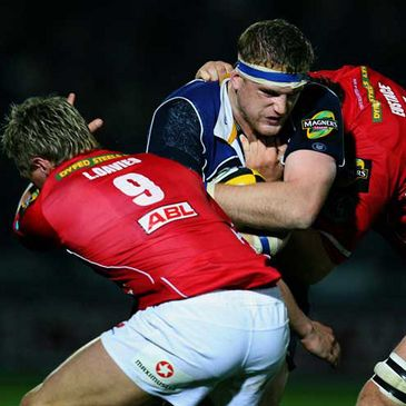 Leinster's Jamie Heaslip in action against the Scarlets earlier this season