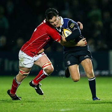 Leinster out-half Jonathan Sexton in action against Llanelli last October