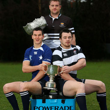 Jamie Heaslip, Jonathan Sexton and Cian Healy launch the Leinster Schools Cup competitions