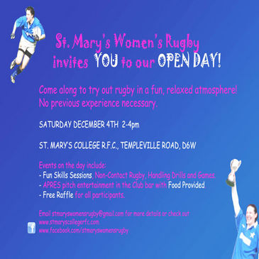 The St. Mary's women are planning an Open Day for next month