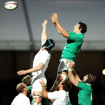 The O2 Ireland Wolfhounds in action against England Saxons
