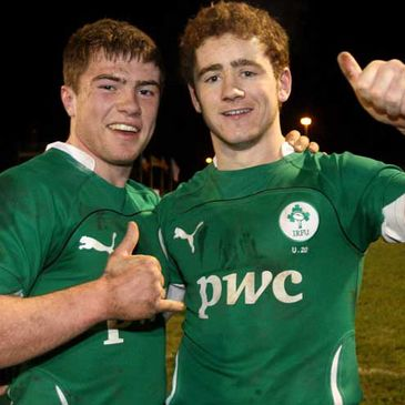 Half-backs Luke McGrath and Paddy Jackson