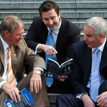 Peter McKenna with Micheal O'Muircheartaigh and Brent Pope