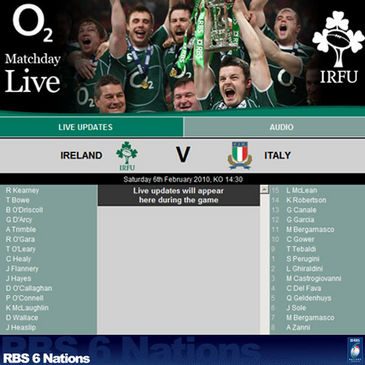 O2 MatchDay Live on IrishRugby.ie