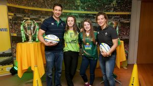 Aviva Irish Schools Rugby Festival Meet & Greet With Kevin McLaughlin & Jenny Murphy, Sunday, October 11, 2015