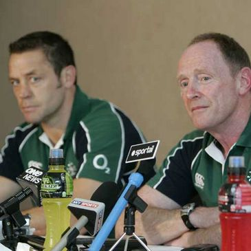 Graham Steadman and Joey Miles at Thursday's press conference