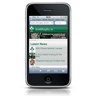 IrishRugby.ie on your mobile device