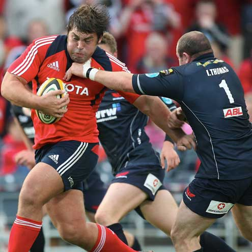 Tony Buckley in action for Munster
