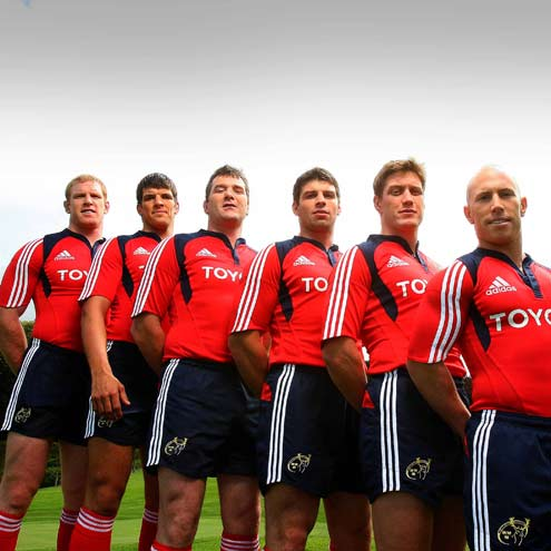 Munster players in the team's new kit