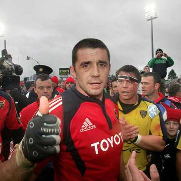 Munster's Alan Quinlan has been ruled out for eight weeks