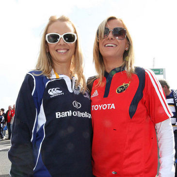 Leinster and Munster fans can be pals