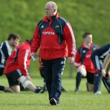 Declan Kidney surveys the scene at training
