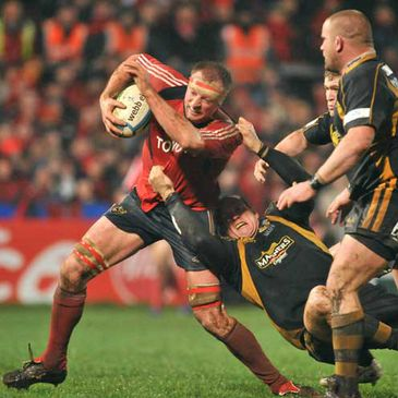 Munster's Mick O'Driscoll in action against Wasps