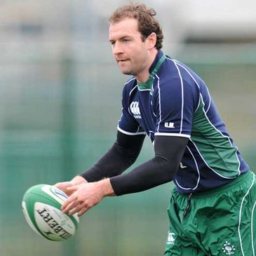 Geordan Murphy pictured training at Belfield on Thursday morning