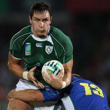 Ireland's David Wallace in action against Namibia