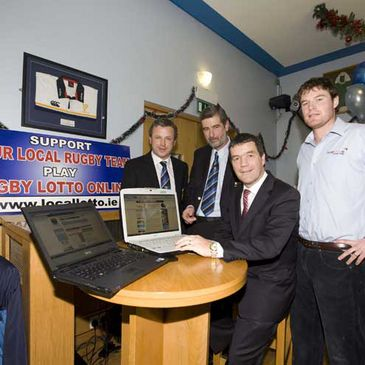 The launch of Navan RFC's Online Lotto
