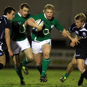 Nevin Spence in action for the O2 Ireland Wolfhounds