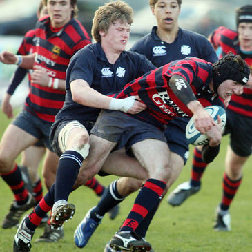 Niall Annett in action for Methodist College