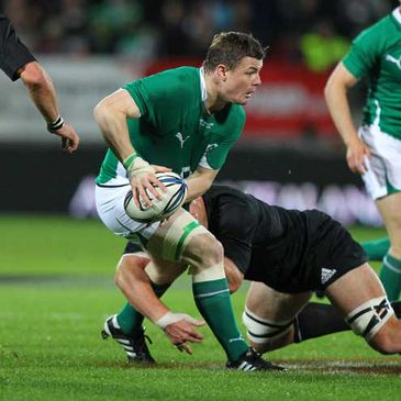 Brian O'Driscoll in action against New Zealand