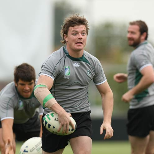 Brian O'Driscoll at training