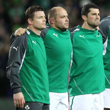 Brian O'Driscoll, Rory Best and Rob Kearney