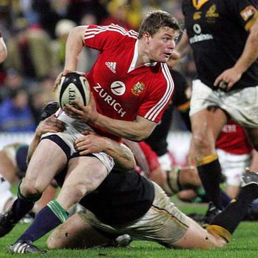 Brian O'Driscoll in action for the Lions in 2005