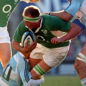 Mick O'Driscoll in action against Argentina
