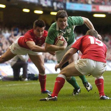 Ireland captain Brian O'Driscoll in action against Wales in 2007