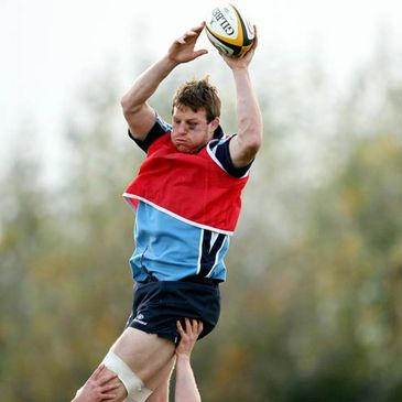 Malcolm O'Kelly training with the Leinster squad