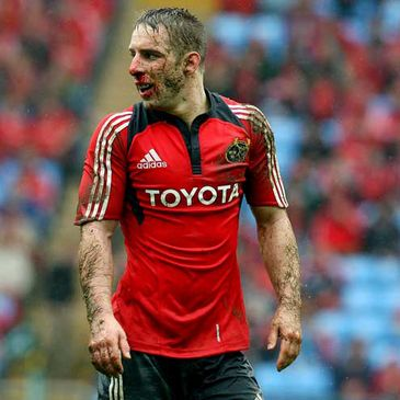 A muddied and bloodied Tomas O'Leary