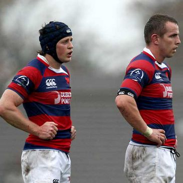 Clontarf's Barry O'Mahony and Frank Cogan