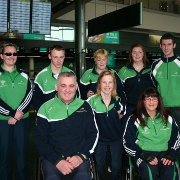 Garrett Culliton and other members of the Irish Paralympian Team