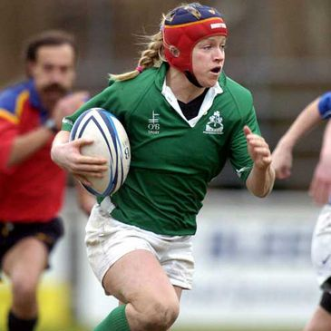 Patrique Kelly in action for Ireland