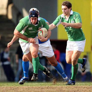 Ireland U-20s in action against Italy